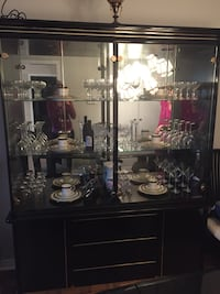 Black lacquer china cabinet Vaughan, L6A 1K4
