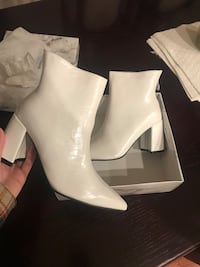New white snake boots