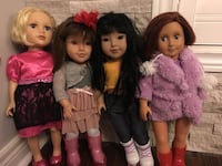 Generation Dolls with clothes