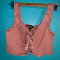 PINK LACE UP CROP TOP Toronto, M6P 2T3