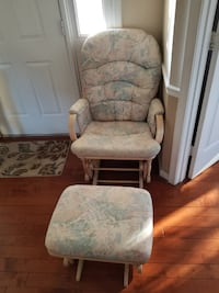 Glider Rocker and Ottoman FAIRFAX