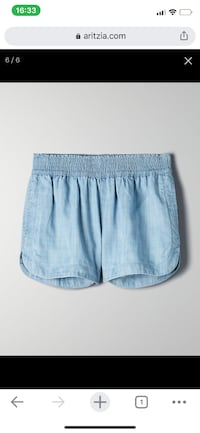 Aritzia Lightweight Denim Shorts