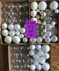 Clear & White Christmas Decorations - each lot is $15 Acheson, T7X