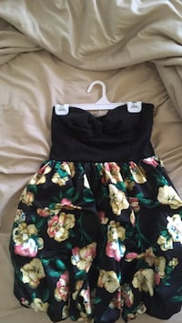 Black, green, and pink floral sleeveless dress Calgary, T3L 2R8
