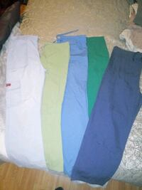 two blue and green pants Troy, 12182