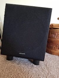 black Polk audio speaker