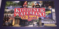 Kitchener-Waterloo on board monopoly style board game. Waterloo, N2T 0A3