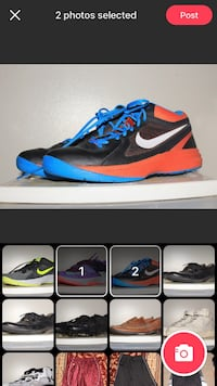 pair of black-and-blue Nike basketball shoes Winnipeg, R3M
