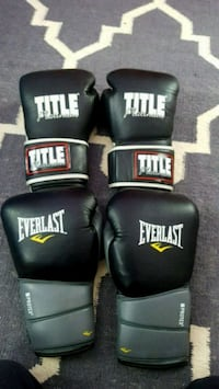 pair of Everlast 14oz and Title 10oz boxing gloves 42 km