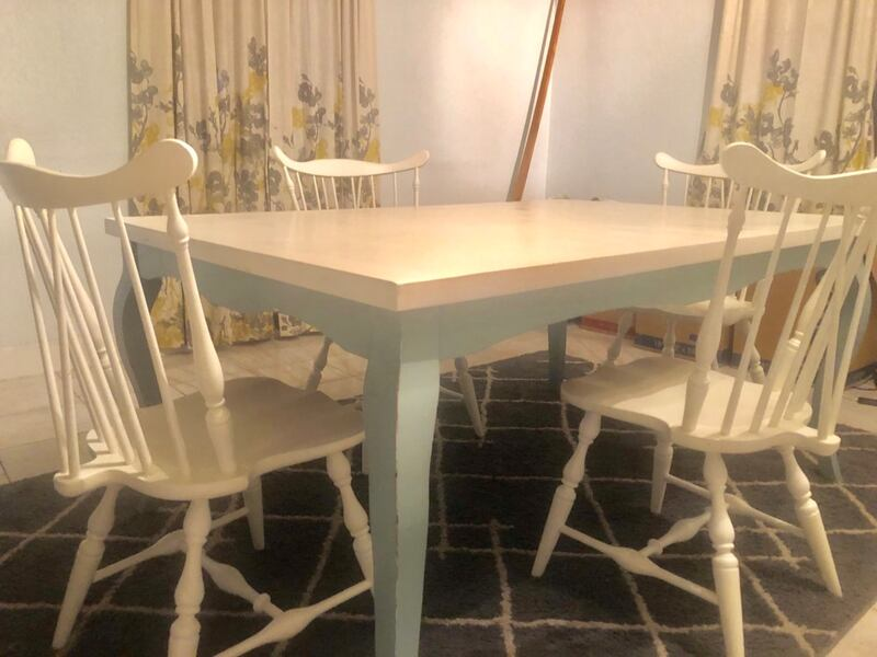 Used Modern Ranch Style Dining Table