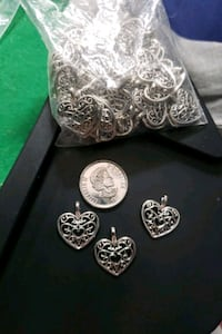 bag of 50 ish silver heart pendants Edmonton, T6A 2E4