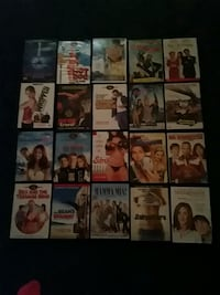 assorted DVD movie case collection