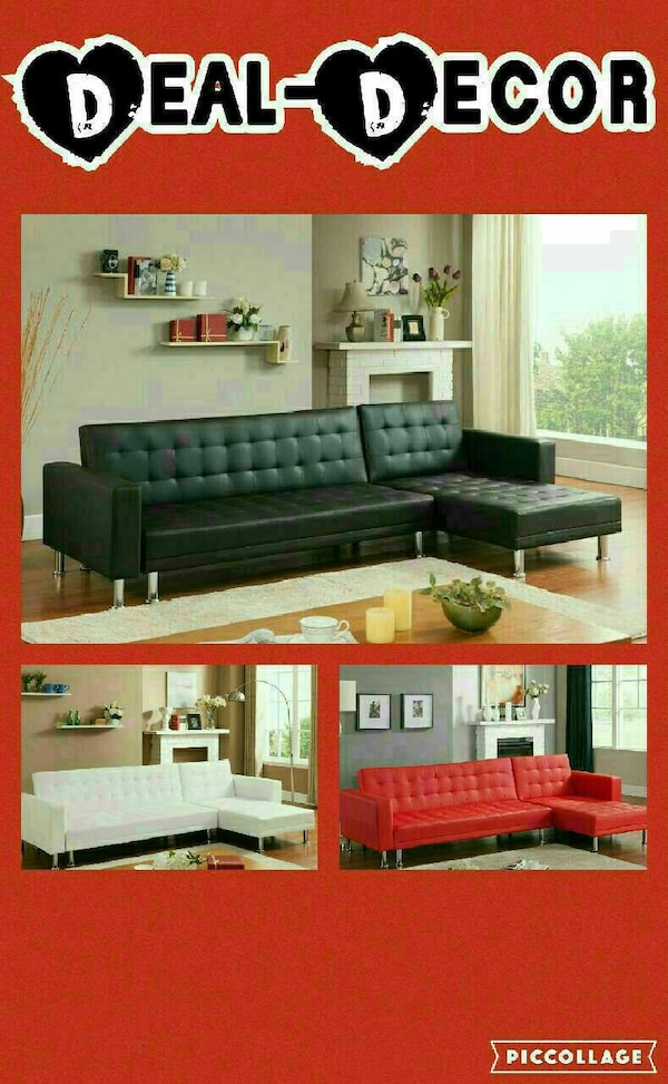 Used Leather Sectional/Sofa Bed for sale in Atlanta - letgo