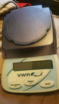 gray and teal VWR digital scale Gaston, 29053