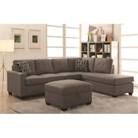 CLEARANCE - NEW TAN LEATHER SECTIONAL ! Bakersfield