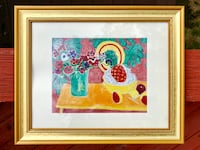 BRAND NEW Vibrant Table Setting Framed Portrait Falls Church, 22046
