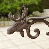 Cast Iron Moose Hanging Basket Wall Bracket Vancouver