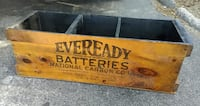 "Antique Eveready Battery Wooden Shipping Crate New York N.Y. 27"" x 9"" x 9"" 754 mi"
