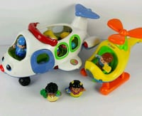 Little People Airplane and Helicopter with figures 2316 mi