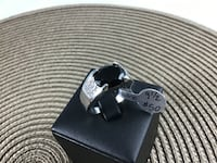 Size 8.5 or 9 .5 or 11.5 Black  Sapphire Ring, 18k white gold filled Chesapeake, 23320