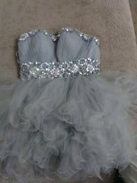 Only worn once small silver corset dress Houston, 77080