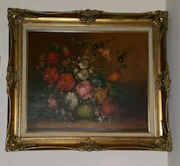 Floral Painting in golden frame collectible Port St. Lucie, 34953