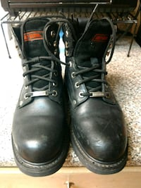Size8 Harley Davidson Steel Toe Boots