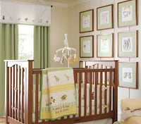 8Pc Pottery Barn Kids Crib Set Cottontail Friends Manassas, 20111