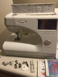 white Janome Memory Craft 9000 Sewing and Embroidery Machine Auburn, 46765