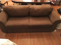 Brown fabric 2-seat sofa Ashburn, 20148