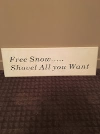 Outdoor winter sign Barrie, L4N 1G6