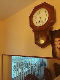 octagon brown wooden pendulum wall clock Toronto, M1W 2S6