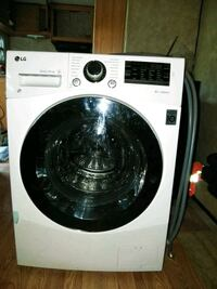white LG front-load clothes washer Anderson