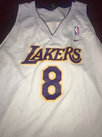 white and black Lakers 24 jersey shirt Clinton, 20735