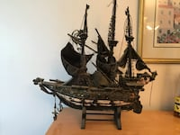 1920s Antique Handmade Ghost Pirate Ship. I got it from a man's grandfather that got it from some immigrants that came here on a same sort of ship and handmade it. Very detailed, made from old leather, iron in some kind of the wood. Very detailed, made fr Pembroke Pines, 33026