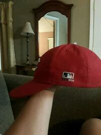 red MLB fitted cap Las Cruces, 88001