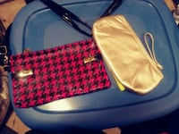 two black and red houndstooth and beige leather wristlets Toronto, M5P 3N3