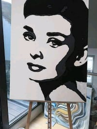 audrey hepburn acrylic painting, Bristol Sheet, 30 Kingston