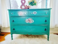 Refurbished vintage console, buffet, cardenza with an antique finish. Mississauga, L5J 4G2