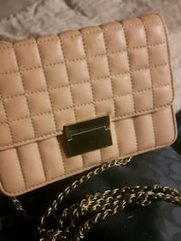 J.CREW SOFT Leather Quilted Gold Chain Strap Crossbody in ROASTED CHES