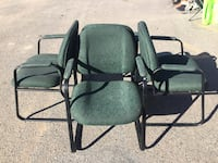 two black metal framed armchairs Federal Heights, 80260