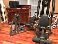 Home Gym Black and gray weight system ParaBody G4 by life fitness with leg press and 200 lbs weight stack Fairfax, 22032