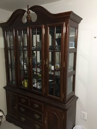 brown wooden china cabinet Mc Lean, 22101