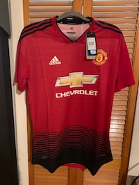 red and white Adidas jersey shirt Miami, 33165