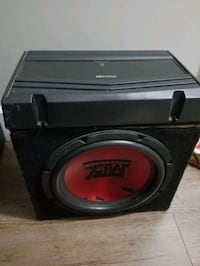 Sub in box + amp need gone today only Burnaby, V5B
