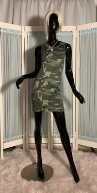 Skin tight camo dress