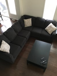 Dark grey Ashley Home Store 3 piece sectional couch