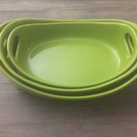 Rachel Ray Bubble and Brown Green Ceramic Set of 3 Open Casseroles (2QT, 3QT, 3.75QT) Washington, 20001