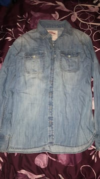 Faded blue denim button-up jacket Lacy-Lakeview, 76705