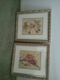 two brown wooden framed painting of flowers Bakersfield, 93304